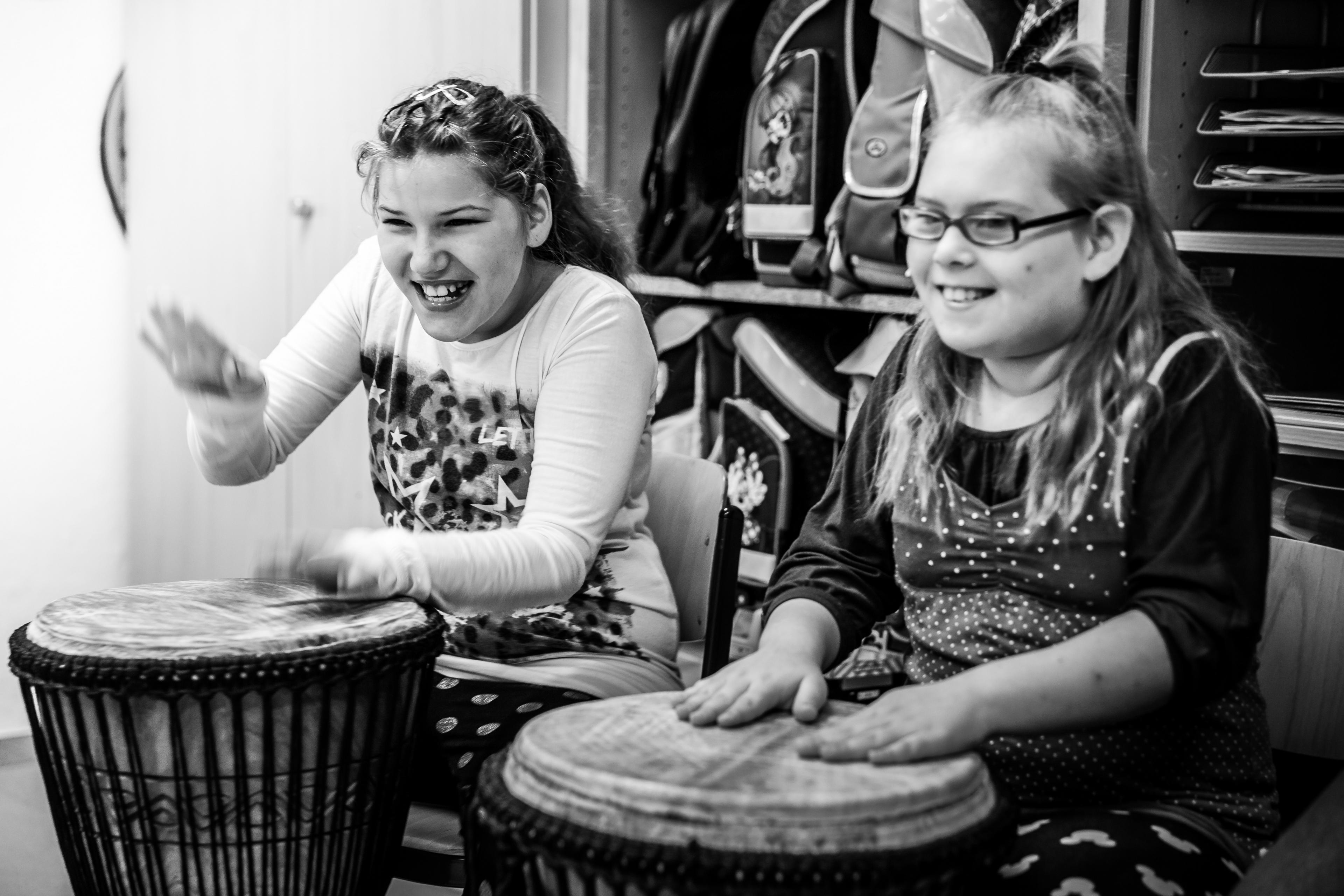 Musikerinnen des Projektes Inklusive:Musik