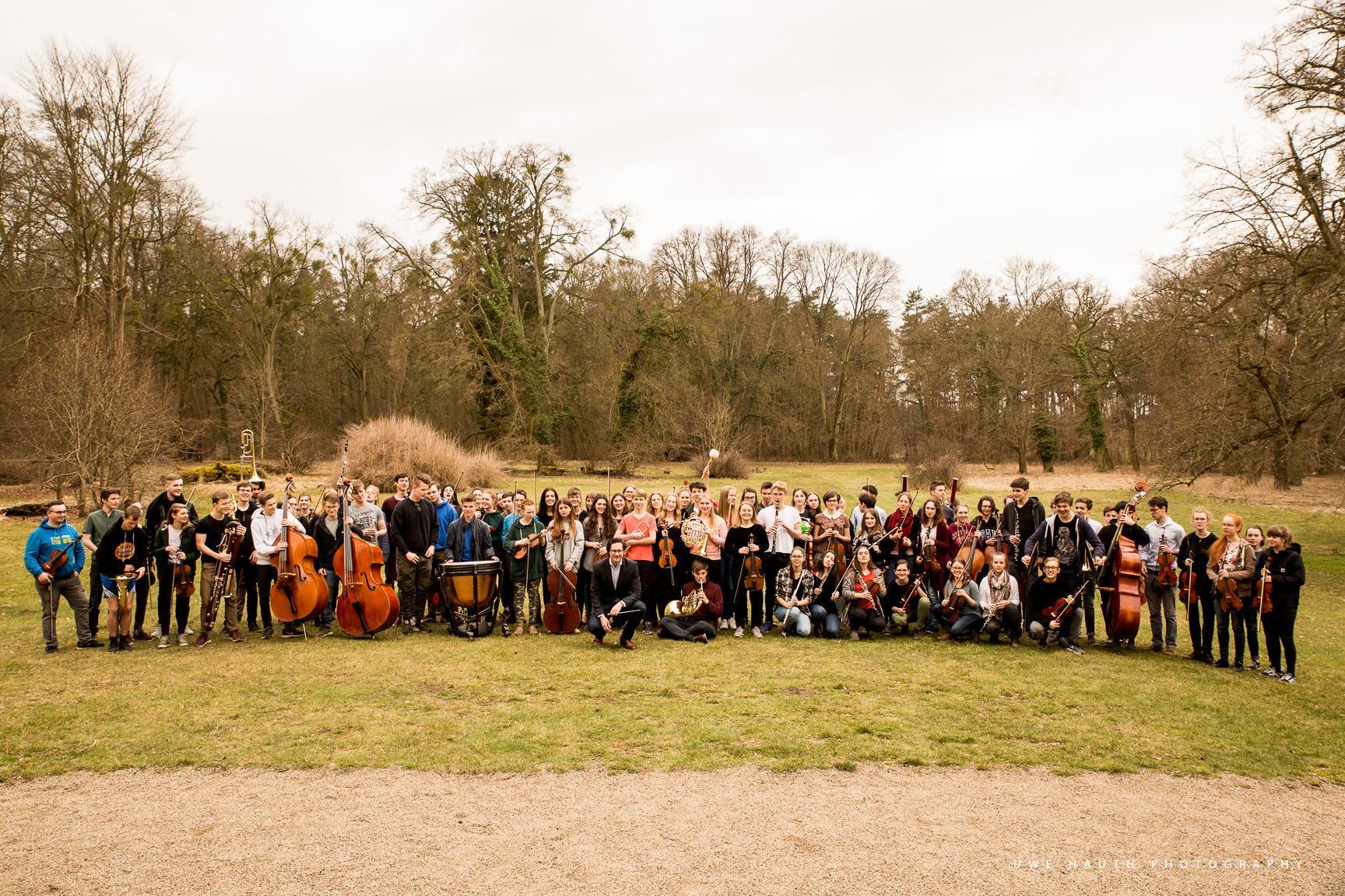 Die Junge Philharmonie und Peter Sommerer auf Probenfahrt