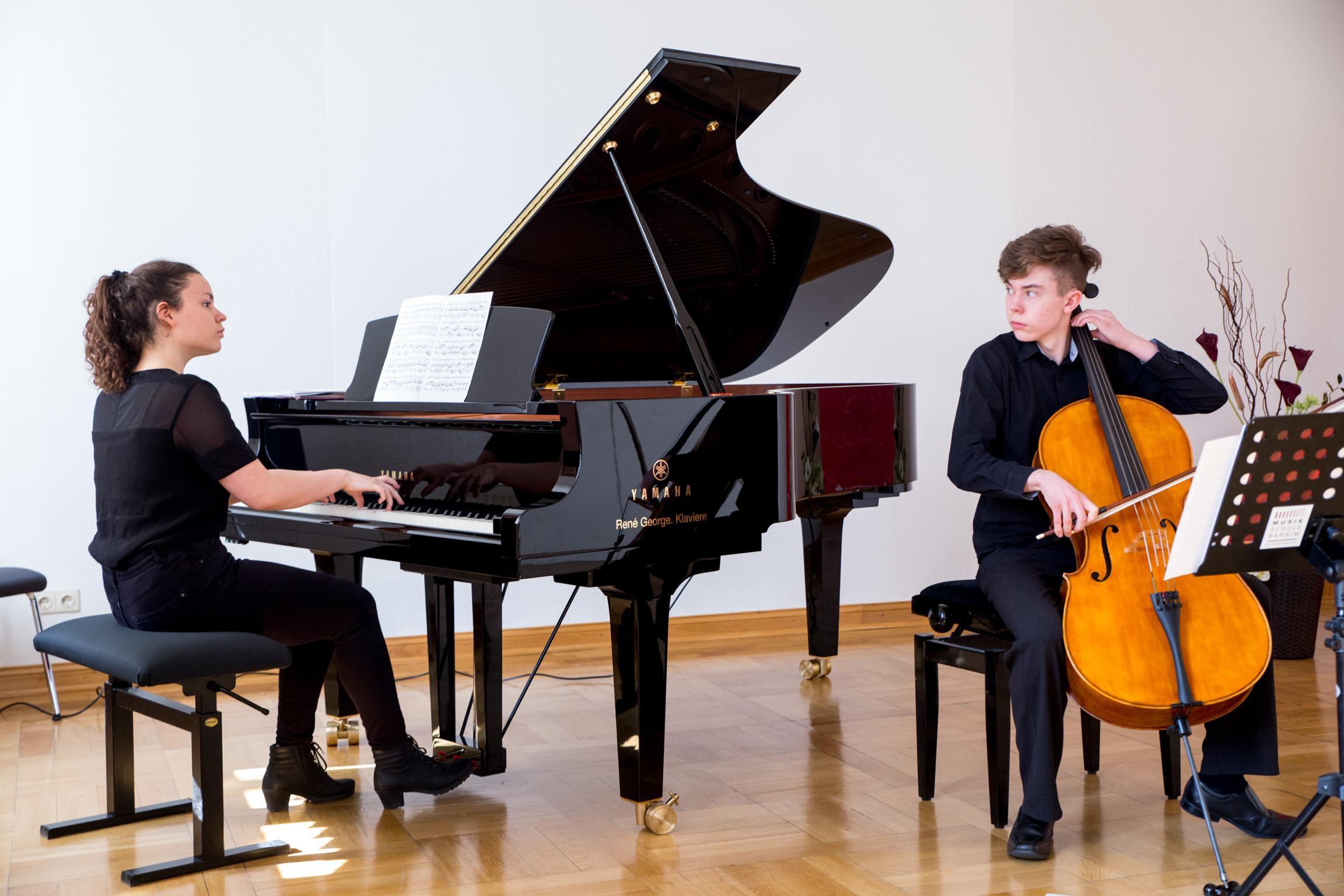 """Duo Klavier und Cello bei """"Jugend musiziert"""""""