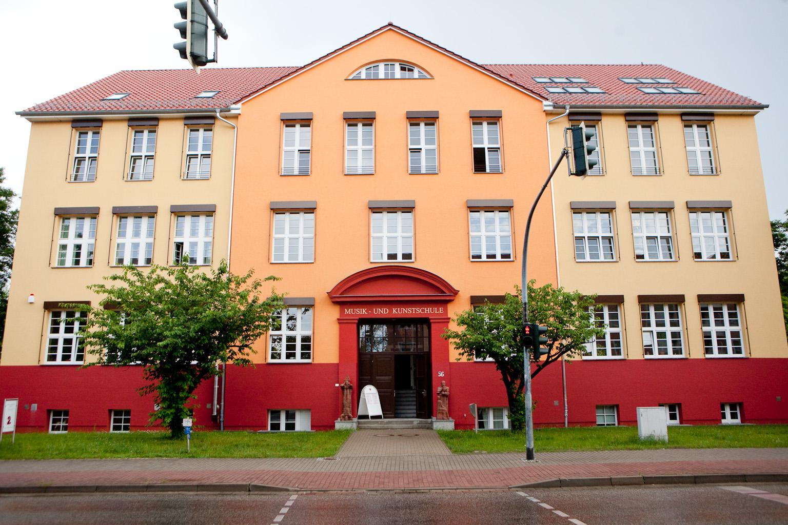 Gebäude der Musik- und Kunstschule der Stadt Schwedt/Oder