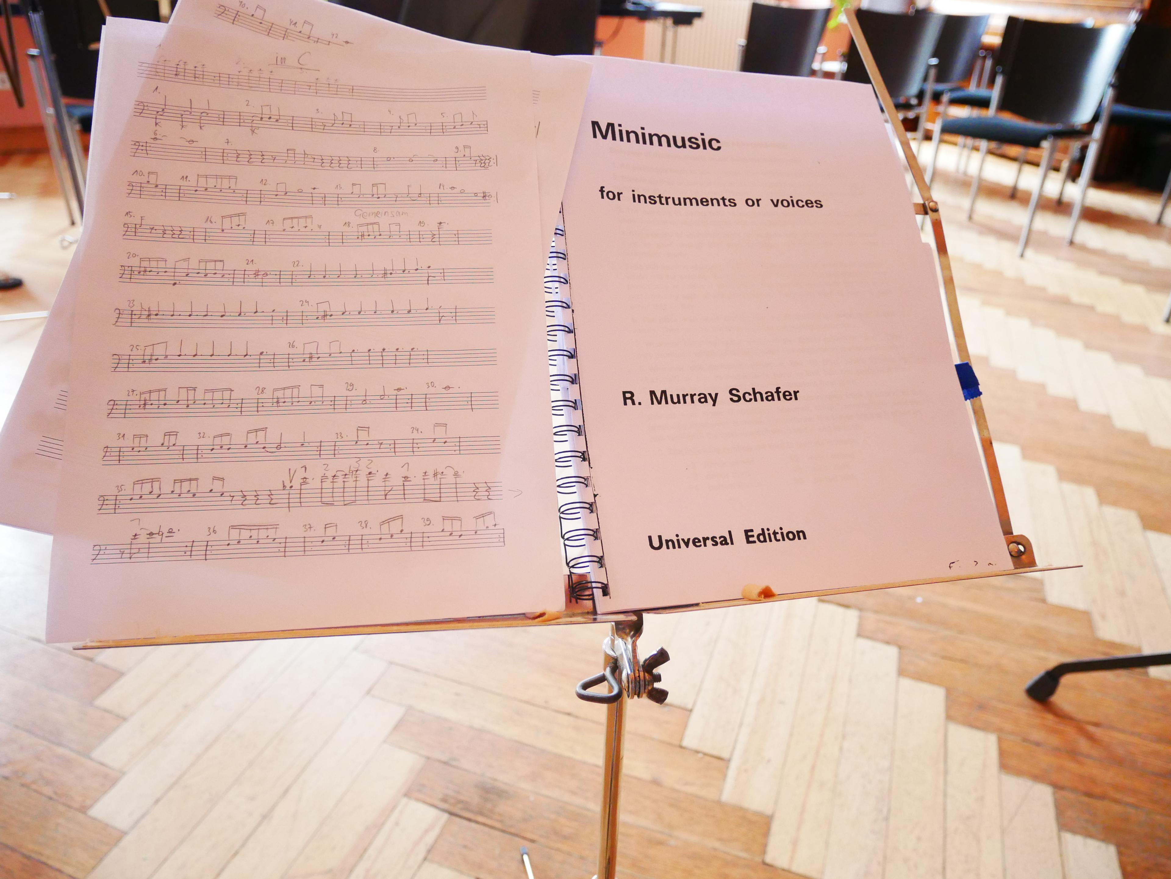Notenblatt Neue Musik