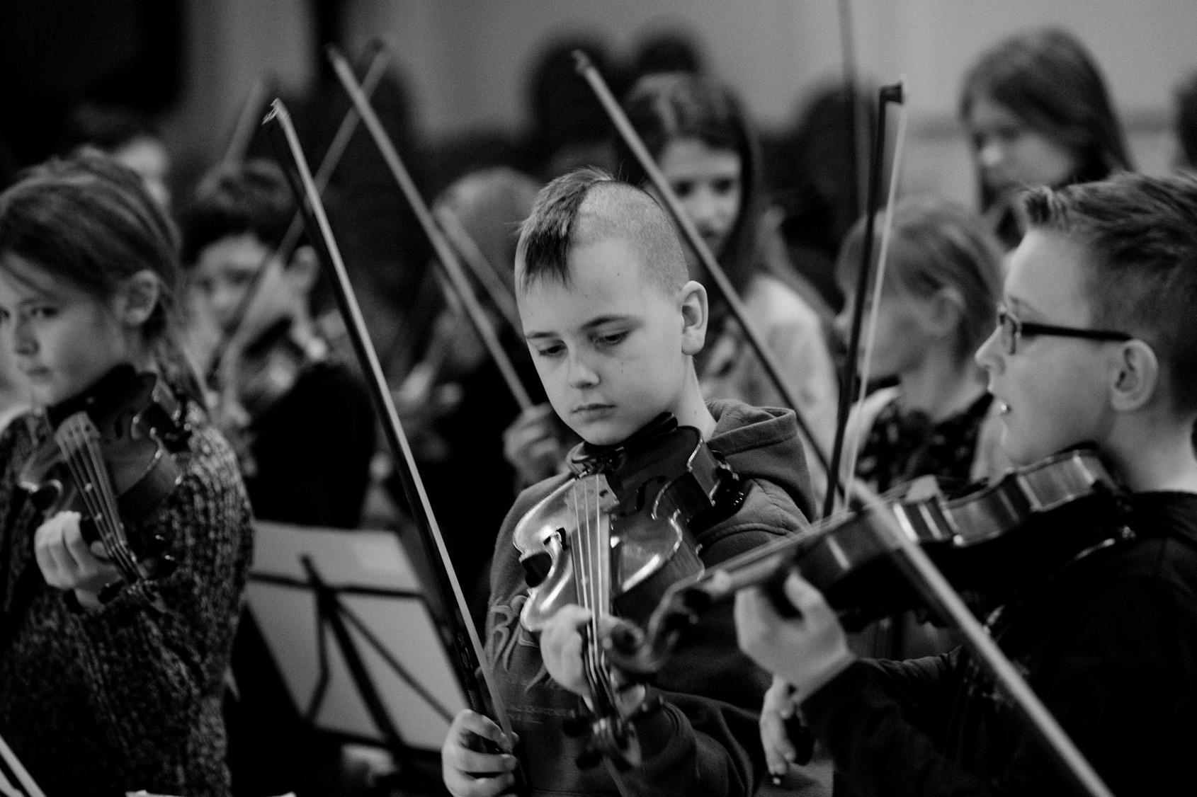 Schüler der Streicherklasse Klasse:Musik