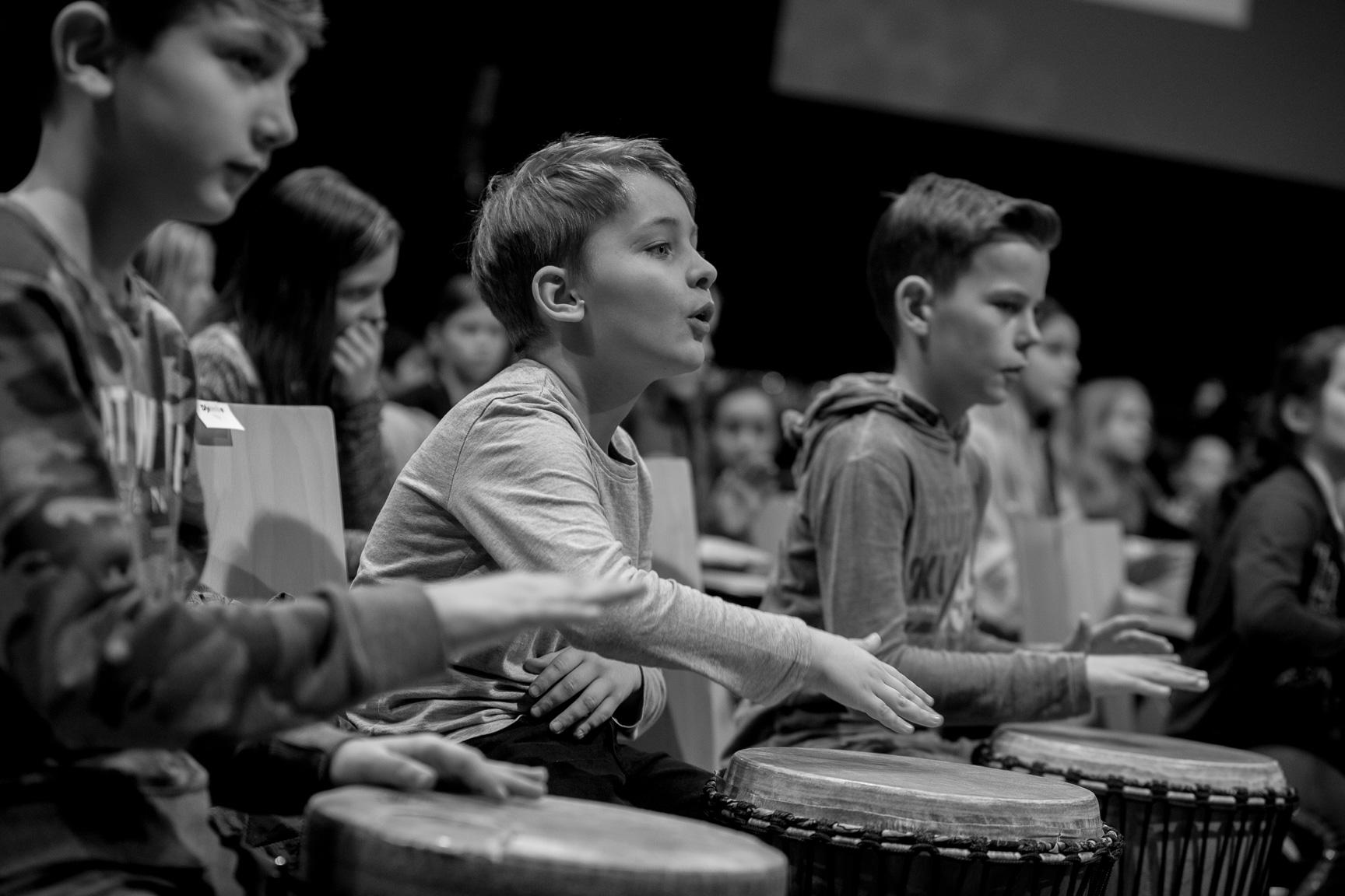 Schüler der Percussionklasse Klasse:Musik