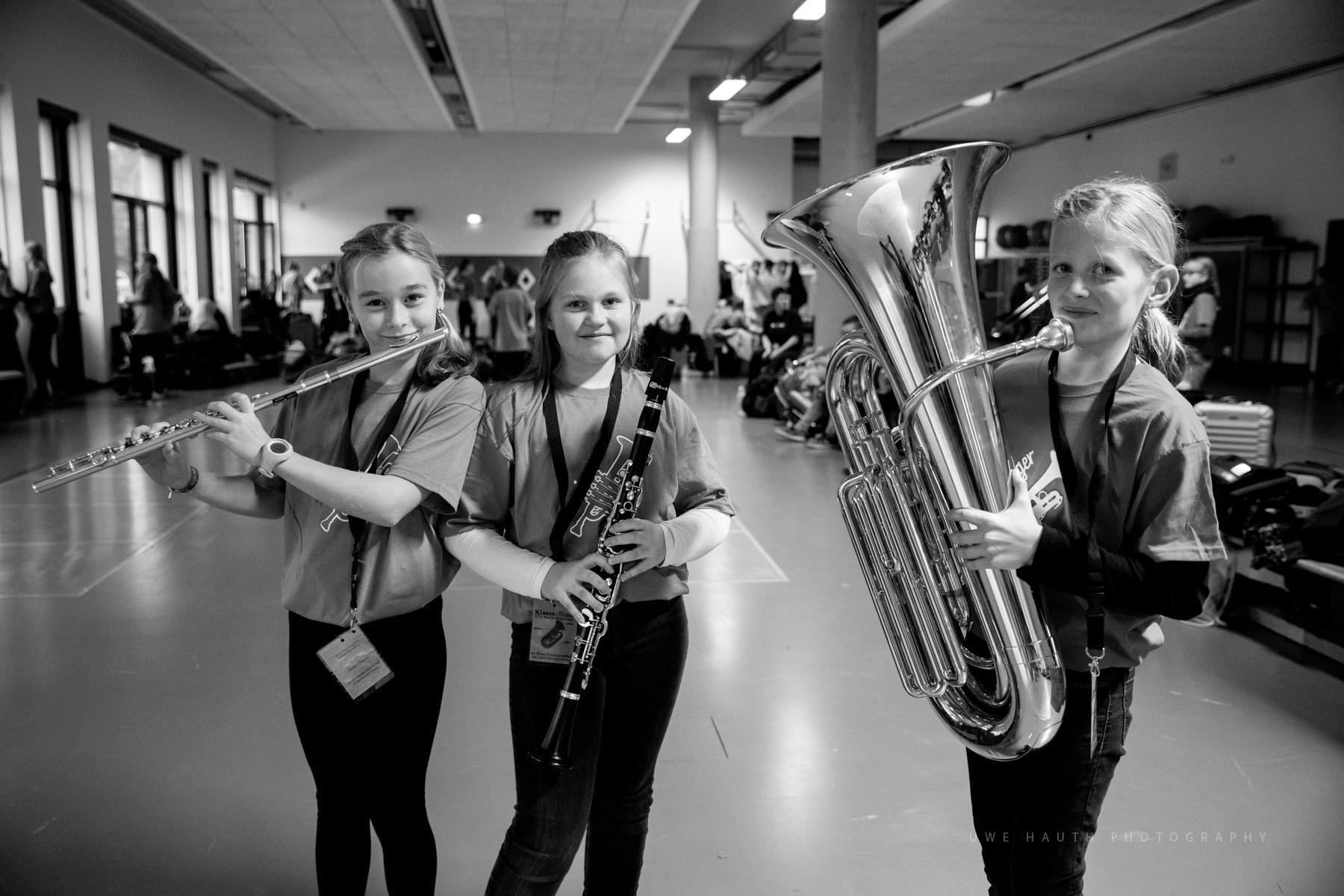Schülerinnen der Bläserklasse Klasse:Musik