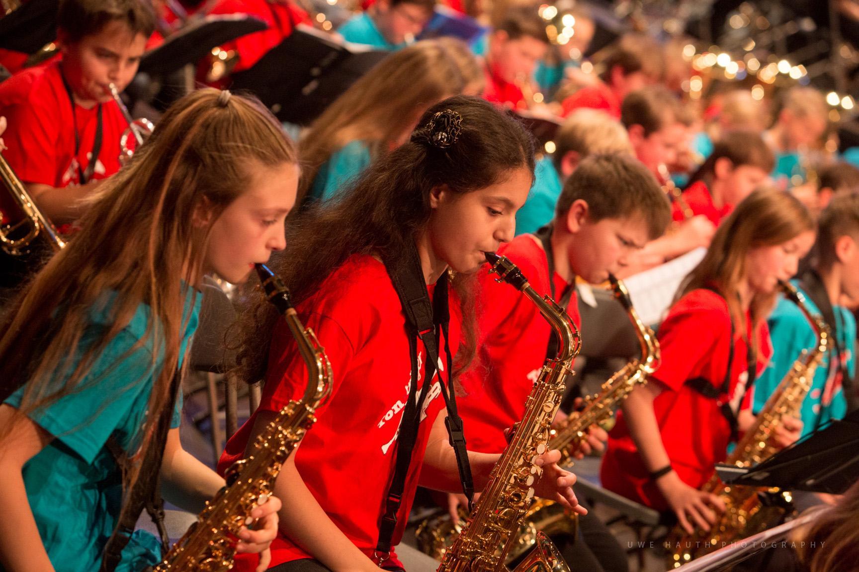 Schüler der Bläserklasse Klasse:Musik