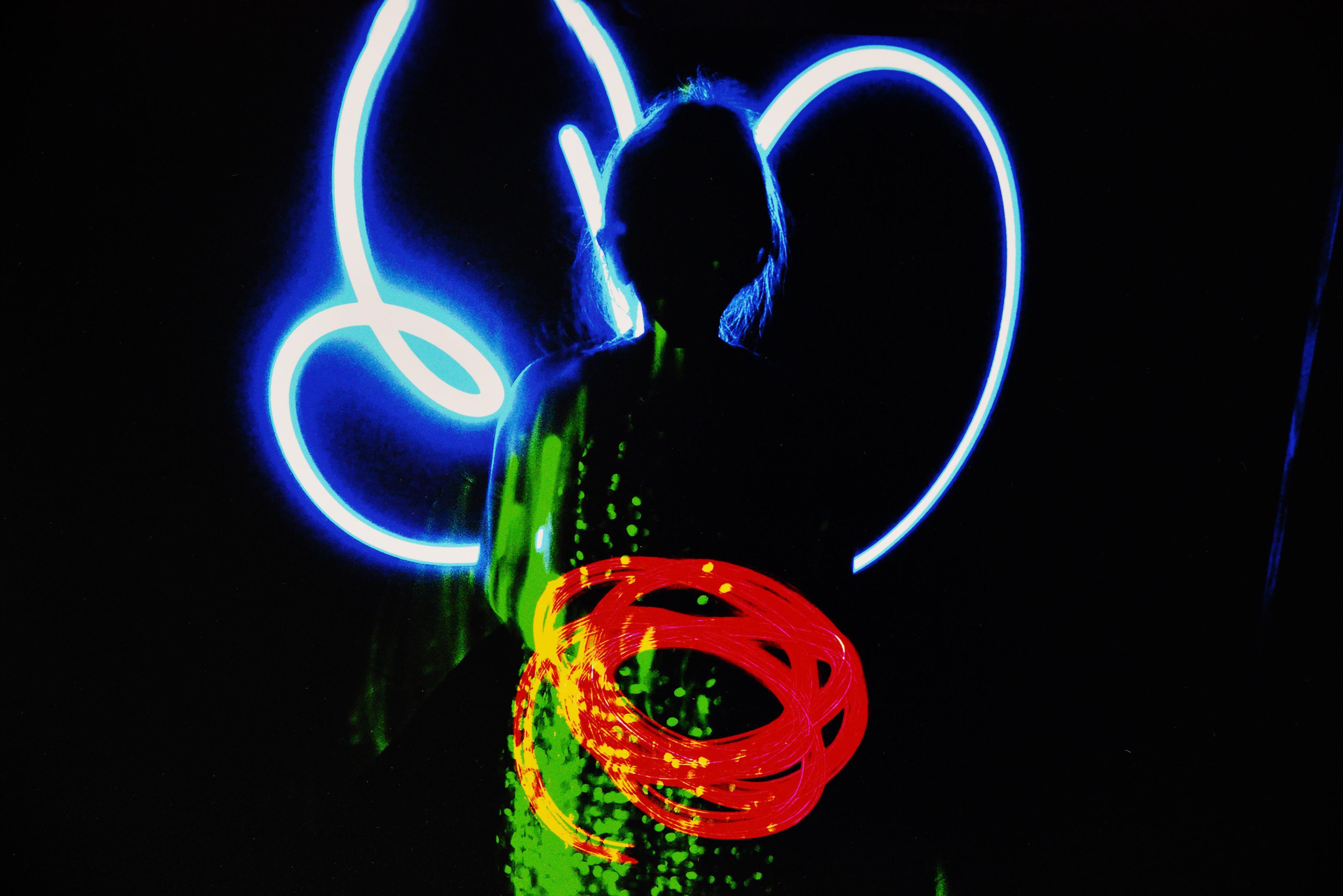 Foto mit Lichtspiel aus der Kunstschule Potsdam