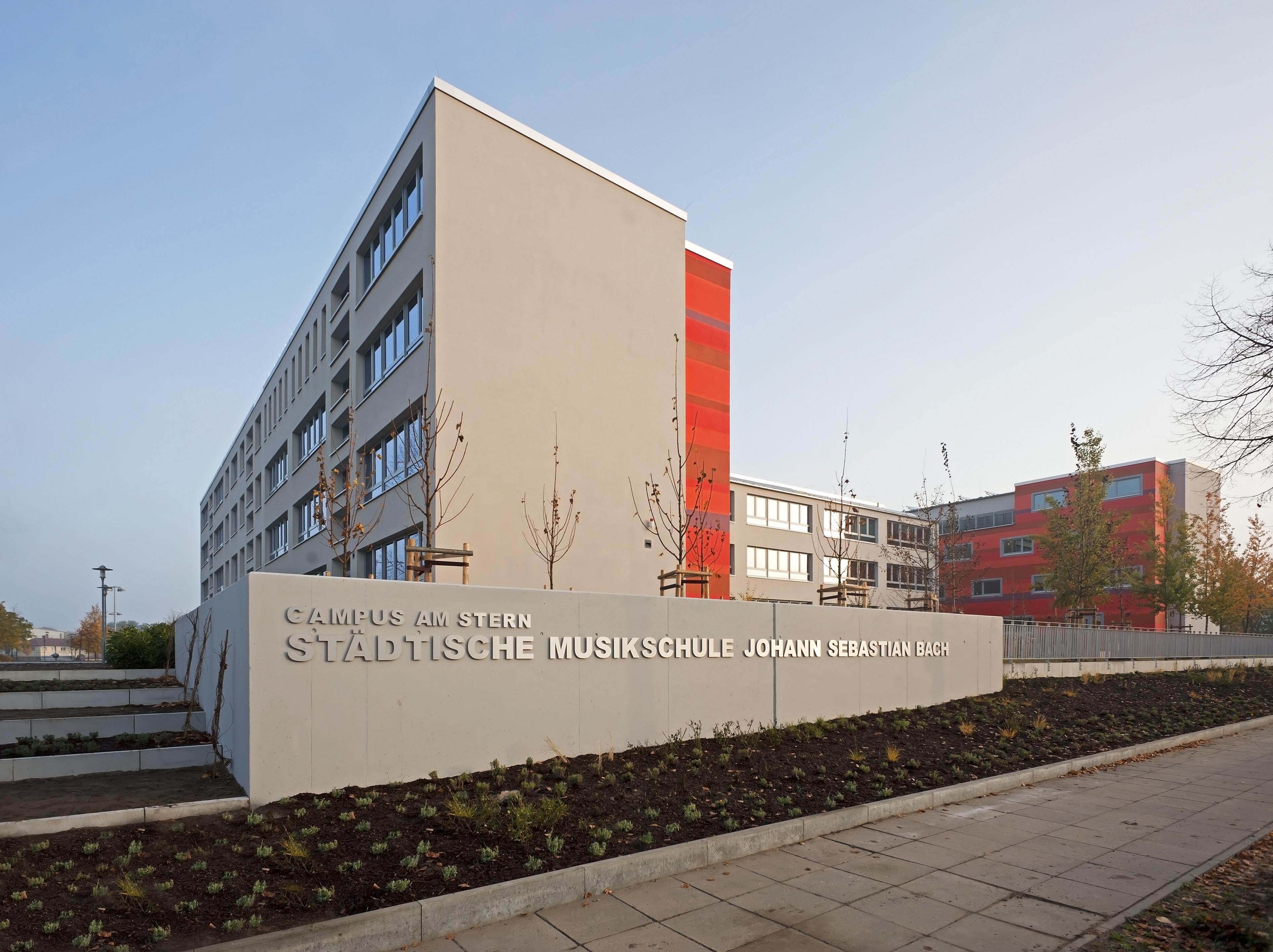 Gebäude der Städtischen Musikschule Johann Sebastian Bach